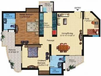 1425 sqft, 2 bhk Apartment in Paramount Symphony Crossing Republik, Ghaziabad at Rs. 47.5000 Lacs