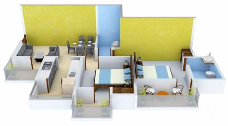 1060 sqft, 2 bhk Apartment in VVIP Homes Sector 16C Noida Extension, Greater Noida at Rs. 37.0000 Lacs