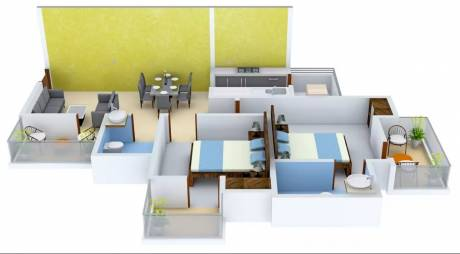 1090 sqft, 2 bhk Apartment in VVIP Homes Sector 16C Noida Extension, Greater Noida at Rs. 38.4000 Lacs