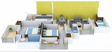 1230 sqft, 2 bhk Apartment in VVIP Homes Sector 16C Noida Extension, Greater Noida at Rs. 43.5000 Lacs