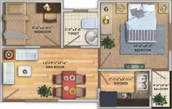 450 sqft, 2 bhk Apartment in Deswal Shivalik Springs Apartments Deeghot, Palwal at Rs. 8.0000 Lacs
