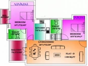 1100 sqft, 2 bhk Apartment in CeeDeeYes Pattinam Tiruporur Near Kelambakkam, Chennai at Rs. 29.5000 Lacs