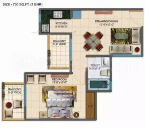 700 sqft, 1 bhk Apartment in Rudra Palace Heights Sector 1 Noida Extension, Greater Noida at Rs. 21.9000 Lacs