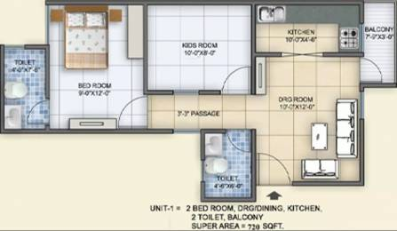 720 sqft, 2 bhk Apartment in Arsh Green Heights Shahberi, Greater Noida at Rs. 18.0000 Lacs