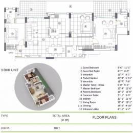 1871 sqft, 3 bhk Apartment in Brisk Lumbini Terrace Homes Sector 109, Gurgaon at Rs. 15000