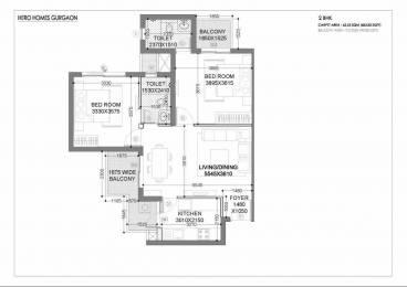 1099 sqft, 2 bhk Apartment in Hero Homes Gurgaon Sector 104, Gurgaon at Rs. 63.4673 Lacs