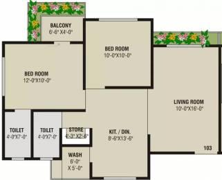 1150 sqft, 2 bhk Apartment in Rajhans Apple Palanpur, Surat at Rs. 9000