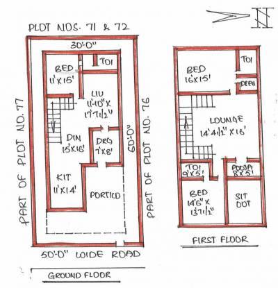 2400 sqft, 3 bhk Villa in Builder Shaili Gardenia Yapral, Hyderabad at Rs. 1.2000 Cr