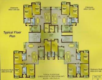 2015 sqft, 3 bhk Apartment in Builder Project Sushant Golf City, Lucknow at Rs. 75.0000 Lacs