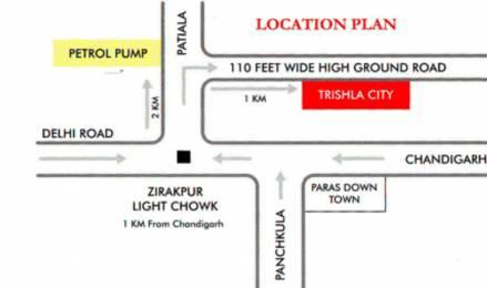 2175 sqft, 4 bhk Apartment in Trishla City Bhabat, Zirakpur at Rs. 75.0000 Lacs