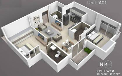 1015 sqft, 2 bhk Apartment in Subha Essence Chandapura, Bangalore at Rs. 25.8825 Lacs