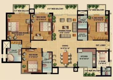 2700 sqft, 4 bhk Apartment in Omaxe Royal Residency Dad Village, Ludhiana at Rs. 1.6000 Cr