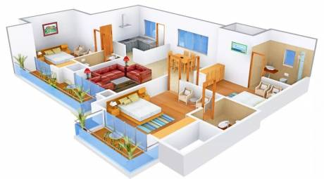 1800 sqft, 3 bhk Apartment in Omaxe Royal Residency Dad Village, Ludhiana at Rs. 95.0000 Lacs