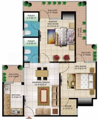 995 sqft, 2 bhk Apartment in Windsor Paradise 2 Raj Nagar Extension, Ghaziabad at Rs. 26.8650 Lacs