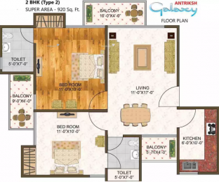 920 sqft, 2 bhk Apartment in Antriksh Galaxy Zone L Dwarka, Delhi at Rs. 31.1600 Lacs