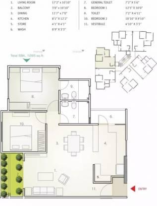 994 sqft, 2 bhk Apartment in Applewoods Sorrel Shela, Ahmedabad at Rs. 39.1925 Lacs