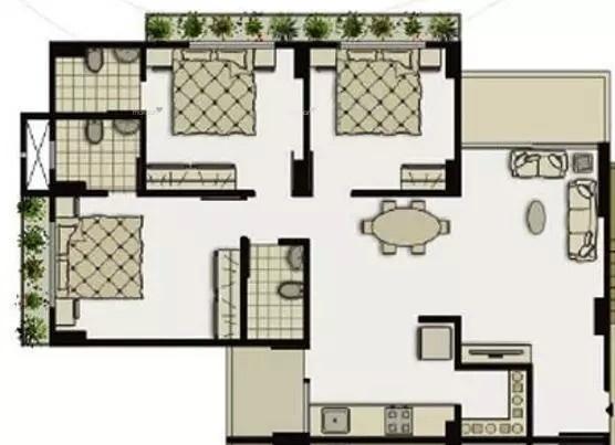 1593 sqft, 3 bhk Apartment in Shivam Priory Makarba, Ahmedabad at Rs. 22000