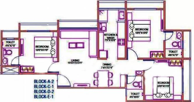 1425 sqft, 3 bhk Apartment in Goyal Orchid Divine Bopal, Ahmedabad at Rs. 46.3125 Lacs