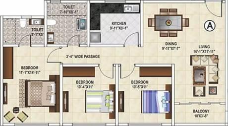 1450 sqft, 3 bhk Apartment in Ideal Grand Howrah, Kolkata at Rs. 81.2000 Lacs