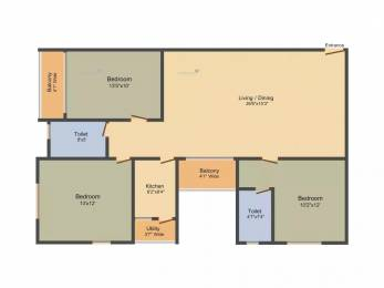 1580 sqft, 3 bhk Apartment in Alcove Block 32 Dum Dum Park, Kolkata at Rs. 87.1600 Lacs