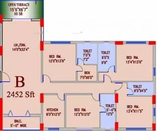 2452 sqft, 4 bhk Apartment in Alcove Regency Tangra, Kolkata at Rs. 1.9200 Cr