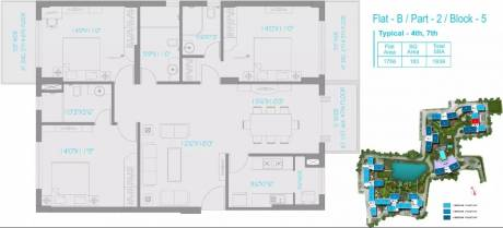 1939 sqft, 3 bhk Apartment in PS Vyom New Alipore, Kolkata at Rs. 1.4703 Cr