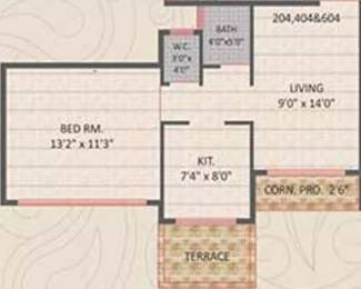 678 sqft, 1 bhk Apartment in Panvelkar Gardens Ambernath West, Mumbai at Rs. 30.0000 Lacs
