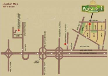 1715 sqft, 3 bhk Apartment in Purvanchal Royal Park Sector 137, Noida at Rs. 85.7500 Lacs