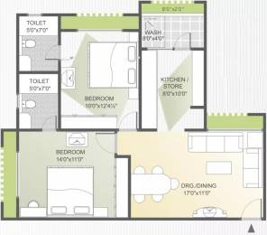 1070 sqft, 2 bhk Apartment in Goyal Orchid Whitefield Makarba, Ahmedabad at Rs. 23000