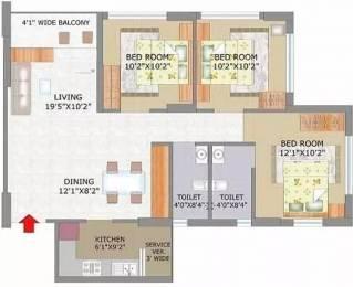 1200 sqft, 3 bhk Apartment in Keventer Westwind Garia, Kolkata at Rs. 1.6000 Cr