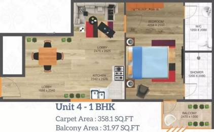 507 sqft, 1 bhk Apartment in Arete Our Homes 3 Sector 6 Sohna, Gurgaon at Rs. 14.0954 Lacs