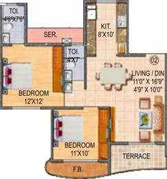1265 sqft, 2 bhk Apartment in Paradise Sai Miracle Kharghar, Mumbai at Rs. 25000