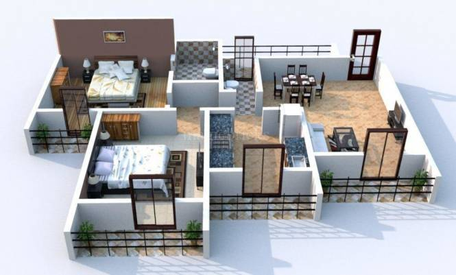 1200 sqft, 2 bhk Apartment in Arihant Superstructures Builders Clan Aalishan Sector 36 Kharghar, Mumbai at Rs. 90.0000 Lacs