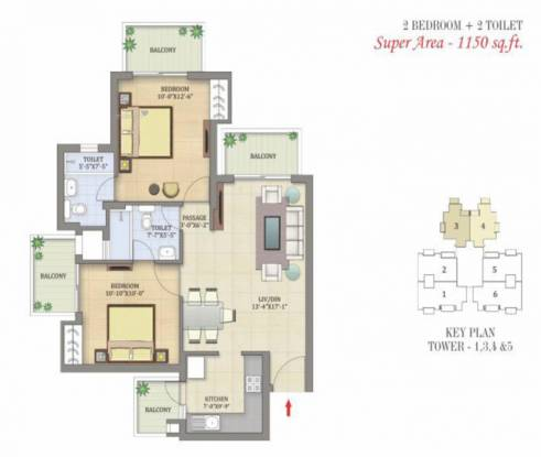 1150 sqft, 2 bhk Apartment in MCC Developers MCC Signature Heights Raj Nagar Extension, Ghaziabad at Rs. 31.5000 Lacs