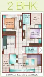 950 sqft, 2 bhk Apartment in Prashant Karuna Sagar Palasia, Indore at Rs. 18.5000 Lacs