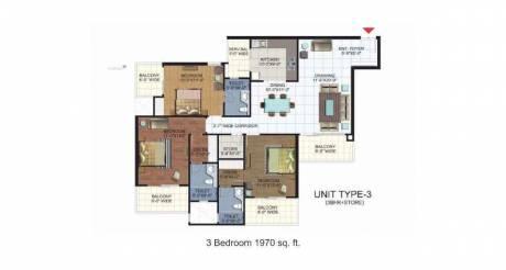 1970 sqft, 3 bhk Apartment in Ramprastha Platinum Premier Sector 7 Vaishali, Ghaziabad at Rs. 1.4000 Cr
