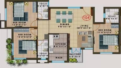 1445 sqft, 3 bhk Apartment in Agni Pelican Heights Pallavaram, Chennai at Rs. 96.8244 Lacs