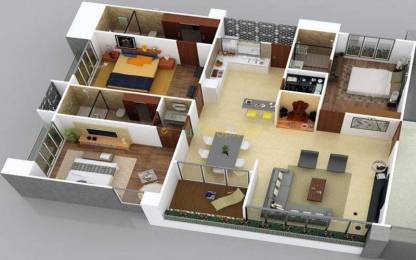 2615 sqft, 3 bhk Apartment in Builder ofira siesta VIP Road, Surat at Rs. 1.4644 Cr
