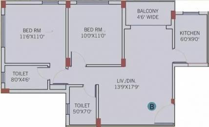 910 sqft, 2 bhk Apartment in Rameswara Waterview New Town, Kolkata at Rs. 34.0300 Lacs