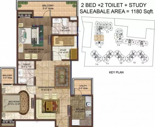 1180 sqft, 2 bhk Apartment in Rise Organic Homes Lal Kuan, Ghaziabad at Rs. 38.7600 Lacs