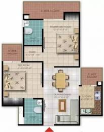 1060 sqft, 2 bhk Apartment in Galaxy Royale Sector 16C Noida Extension, Greater Noida at Rs. 33.9400 Lacs