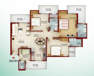 1695 sqft, 4 bhk Apartment in Saviour Builders and New Way Homes Greenarch Techzone 4, Greater Noida at Rs. 62.0000 Lacs