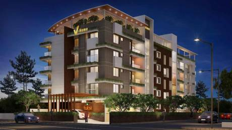 1050 sqft, 2 bhk Apartment in Builder Tulsi V home Kaloor, Kochi at Rs. 55.0000 Lacs