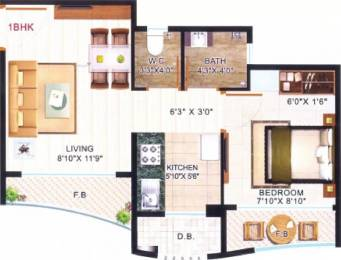 500 sqft, 1 bhk Apartment in JSB Nakshatra Primus Naigaon East, Mumbai at Rs. 19.0000 Lacs