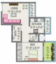 540 sqft, 1 bhk Apartment in JSB Nakshatra Greens Naigaon East, Mumbai at Rs. 22.6800 Lacs