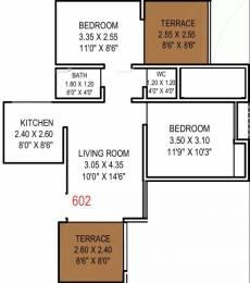867 sqft, 2 bhk Apartment in Gangotree Dhanwantari Kothrud, Pune at Rs. 20000