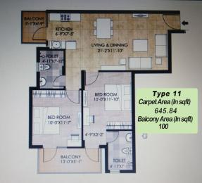 850 sqft, 2 bhk Apartment in Adani Aangan Sector 89A, Gurgaon at Rs. 26.3336 Lacs