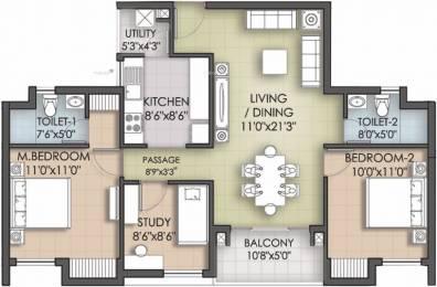924 sqft, 2 bhk Apartment in Akshaya Republic Kovur, Chennai at Rs. 45.0000 Lacs