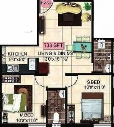 733 sqft, 2 bhk Apartment in StepsStone Krita Madambakkam, Chennai at Rs. 30.0000 Lacs