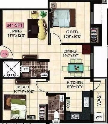 841 sqft, 2 bhk Apartment in StepsStone Krita Madambakkam, Chennai at Rs. 35.0000 Lacs